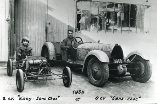 2cv Baby ss Choc & 6cv Sans Choc 1933