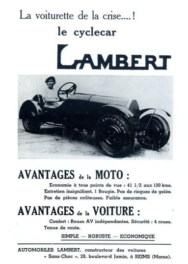 Cyclecar Lambert de 1934
