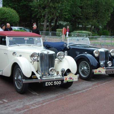 Duo de MG VA tourer et cabriolet Tickford