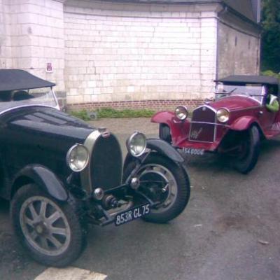Bugatti 43 et Alfa Roméo 6C1750 Zagato en grande conversation