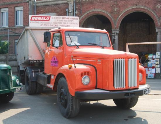 Scania + benne sur le stand du Raucca