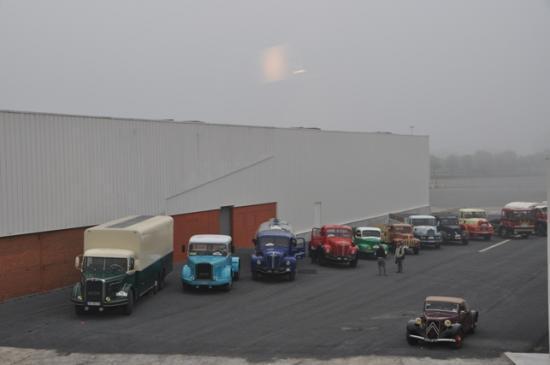 Dans la brume matinale à Aire sur la Lys