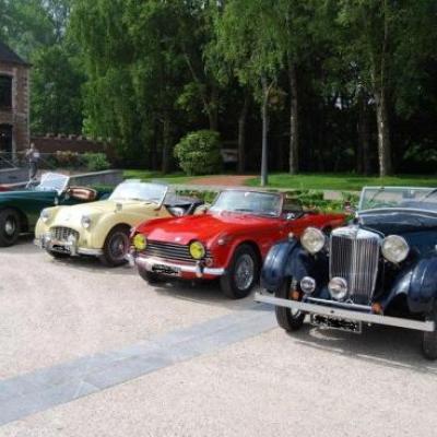 Le coin des anglaises : MG VA, Triumph, Jaguar