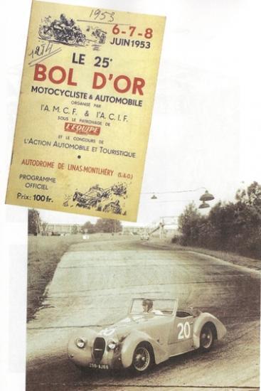 Publicité pour la Lambert cabriolet competition CS du Bol d'OR 1953