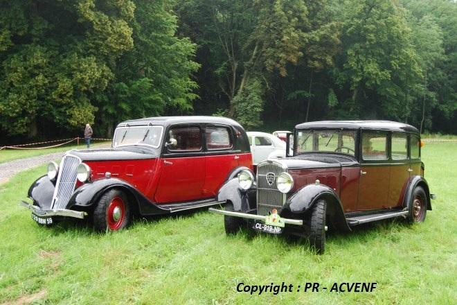 Renault Primaquatre & Peugeot 301 de face