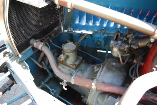 compartiment moteur de la Sans Choc de 1933 chassis 001