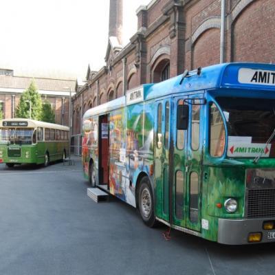 3 générations de bus pour l'Amitram: Saviem SC10, Brossel et CBM