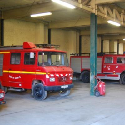Une partie des pompiers