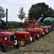 Une partie des tracteurs exposés